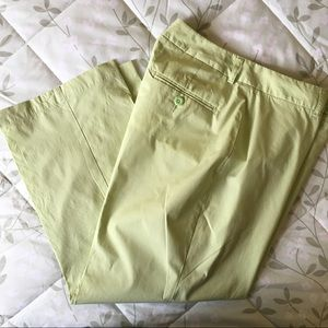 Lands' End Lime Green Cotton Pants